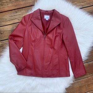 East 5th Cabernet Red Genuine Leather Jacket M